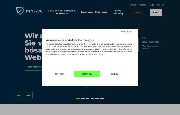 Vorschau von www.myrasecurity.com, Myra Security GmbH