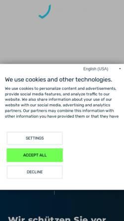 Vorschau der mobilen Webseite www.myrasecurity.com, Myra Security GmbH