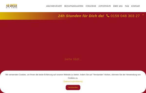 Vorschau von ab-unter-die-erde.de, Bestattungsunternehmen Ab unter die Erde