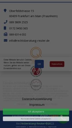 Vorschau der mobilen Webseite www.rechtsberatung-reuter.de, Gunter H. Reuter