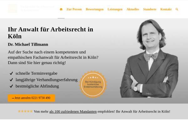 Vorschau von www.rechtsanwalt-tillmann.de, Dr. Michael Tillmann