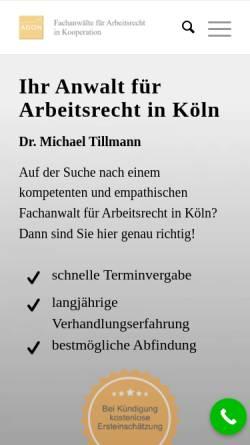 Vorschau der mobilen Webseite www.rechtsanwalt-tillmann.de, Dr. Michael Tillmann