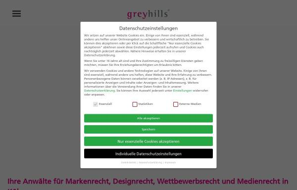Vorschau von www.greyhills.com, Greyhills Rechtsanwälte