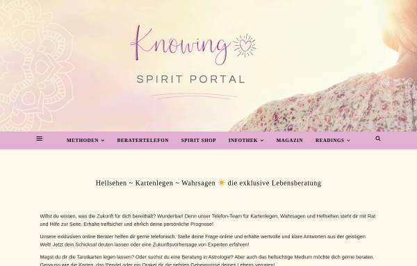 Vorschau von knowing-portal.com, Knowing Spirit Portal