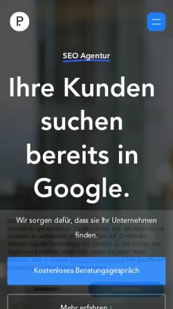 Vorschau der mobilen Webseite www.positiondigital.de, SEO Agentur Position Digital