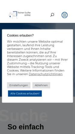 Vorschau der mobilen Webseite trainer-suche.online, Trainer-Suche.online
