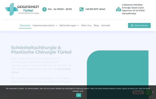 Vorschau von gesundheit-tuerkei.de, Gesundheit Türkei GmbH