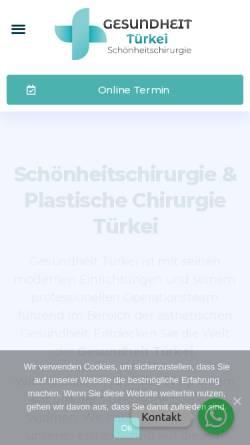 Vorschau der mobilen Webseite gesundheit-tuerkei.de, Gesundheit Türkei GmbH