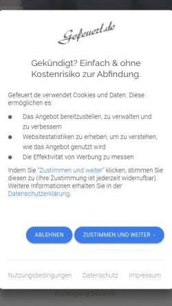 Vorschau der mobilen Webseite www.gefeuert.de, Gefeuert.de