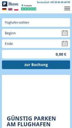 Vorschau der mobilen Webseite www.dein-stellplatz.de, Dein Stellplatz GmbH