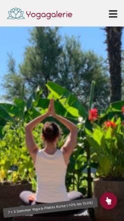 Vorschau der mobilen Webseite www.yogagalerie.at, Yogagalerie