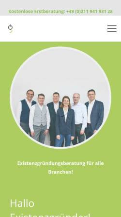 Vorschau der mobilen Webseite www.meine-gruendungsberatung.de, Meine Gründungsberatung - Limburg Consulting