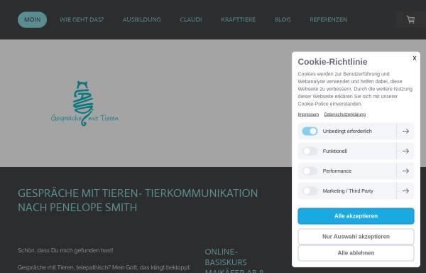 Vorschau von www.gespraeche-mit-tieren.com, Tierkommunikation Claudi Widder