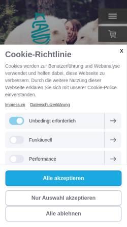 Vorschau der mobilen Webseite www.gespraeche-mit-tieren.com, Tierkommunikation Claudi Widder