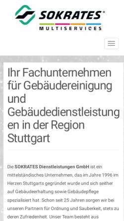 Vorschau der mobilen Webseite sokrates-dienstleistungen.de, SOKRATES Dienstleistungen GmbH
