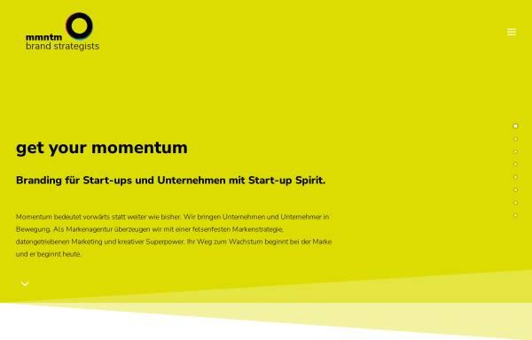 Vorschau von mmntm.de, mmntm brand strategists