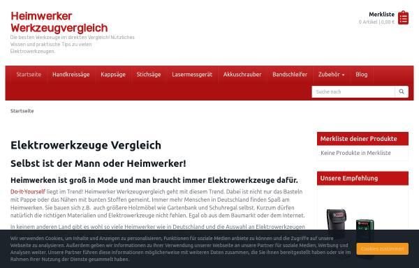 Vorschau von heimwerker-werkzeugvergleich.info, Heimwerker Werkzeugvergleich