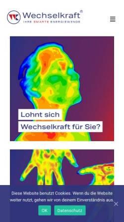 Vorschau der mobilen Webseite wechselkraft.tech, Wechselkraft GmbH