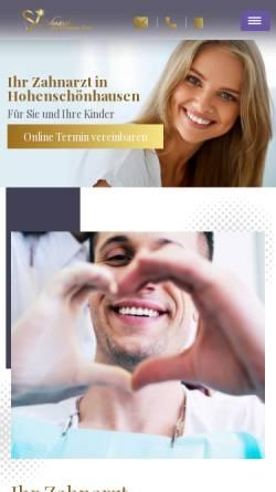 Vorschau der mobilen Webseite zahnaerzte-am-prerowerplatz.de, Zahnärzte am Prerower Platz