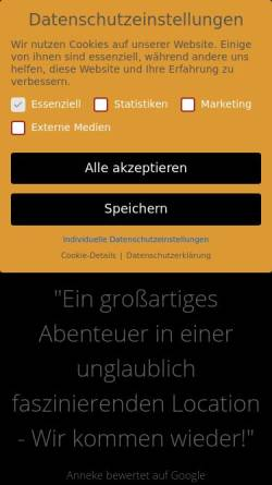 Vorschau der mobilen Webseite deadline-escape.de, Deadline Escape Games