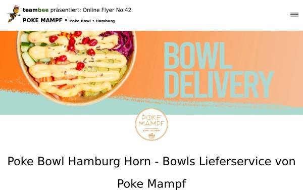 Vorschau von www.prospektverteilung-hamburg.de, Poke Mampf - Bowl Delivery