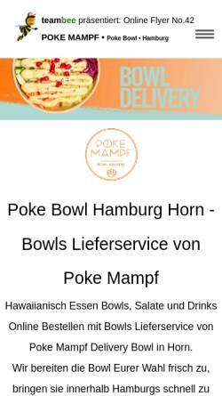 Vorschau der mobilen Webseite www.prospektverteilung-hamburg.de, Poke Mampf - Bowl Delivery