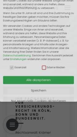 Vorschau der mobilen Webseite www.kraemer.law, Kraemer.Law