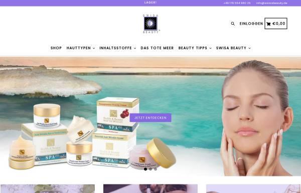 Vorschau von www.swisabeauty.de, Hautpflegeprodukte mit Mineralien und Salz aus dem Toten Meer