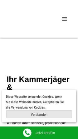 Vorschau der mobilen Webseite www.kammerjaeger-walter.de, Kammerjäger Walter