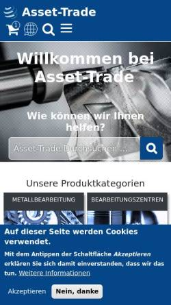 Vorschau der mobilen Webseite www.asset-trade.de, Asset Trade