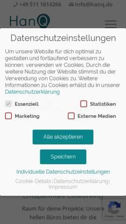 Vorschau der mobilen Webseite www.hanq.de, HanQ