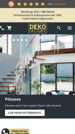 Vorschau der mobilen Webseite www.dekofactory.de, Dekofactory