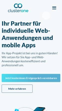 Vorschau der mobilen Webseite www.cluster-one.eu, Cluster One