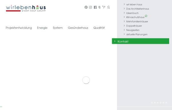 Vorschau von www.wir-leben-haus.de, wir leben haus GmbH + Co. KG