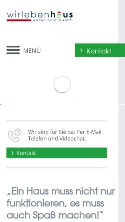 Vorschau der mobilen Webseite www.wir-leben-haus.de, wir leben haus GmbH + Co. KG