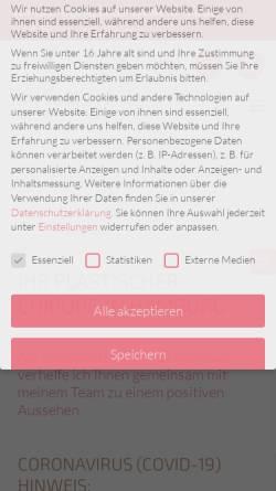 Vorschau der mobilen Webseite www.dr-armin-rau.de, Dr. Armin Rau