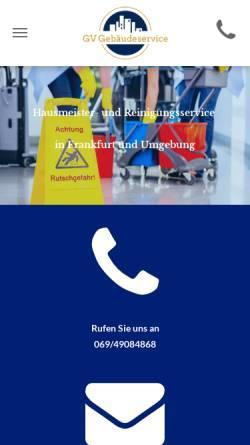 Vorschau der mobilen Webseite www.gv-gebaeudeservice.de, GV Gebäudeservice