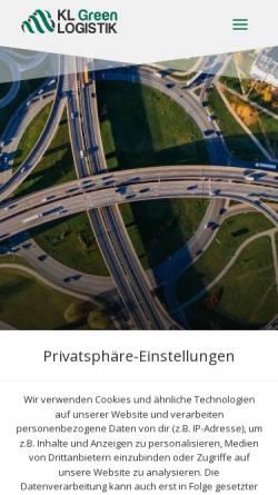 Vorschau der mobilen Webseite klg24.eu, KLG24 Logistik GmbH