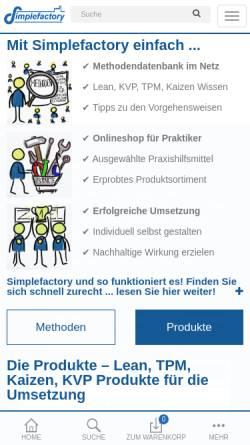 Vorschau der mobilen Webseite simplefactory.de, Simplefactory