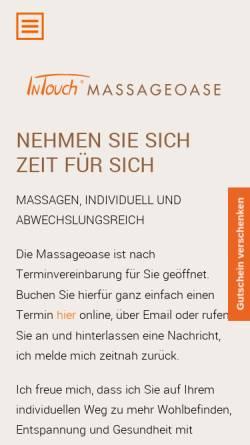 Vorschau der mobilen Webseite www.intouch-massageoase-bremen-nord.de, InTouch Massageoase