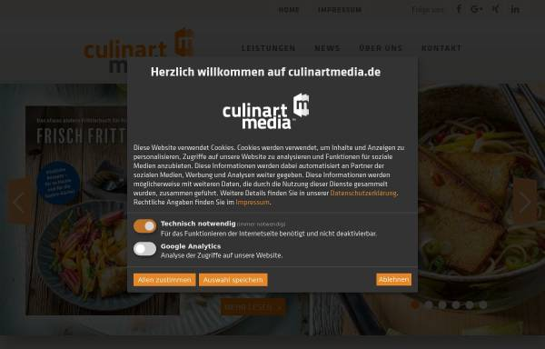 Vorschau von www.culinartmedia.de, CulinartMedia GmbH