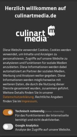 Vorschau der mobilen Webseite www.culinartmedia.de, CulinartMedia GmbH