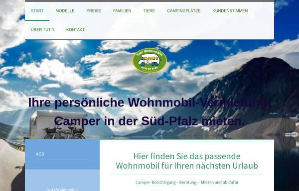 Vorschau von www.tutti-wohnmobile.de, Tutti Wohnmobile