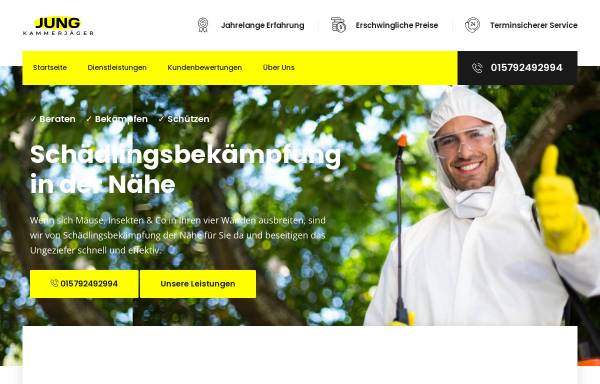 Vorschau von kammerjaeger-jung.de, Kammerjäger Jung