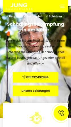 Vorschau der mobilen Webseite kammerjaeger-jung.de, Kammerjäger Jung