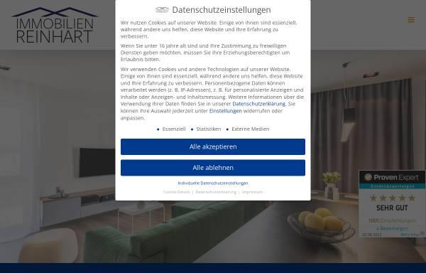 Vorschau von immobilienreinhart.de, Immobilien Reinhart