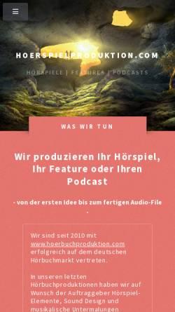Vorschau der mobilen Webseite www.hoerspielproduktion.com, Hörspiel Produktion