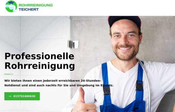 Vorschau von rohrreinigung-teichert.de, Rohrreinigung Teichert