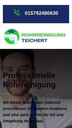 Vorschau der mobilen Webseite rohrreinigung-teichert.de, Rohrreinigung Teichert