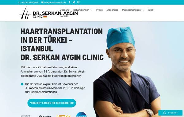 Vorschau von drserkanaygin.de, Dr. Serkan Aygin Clinic